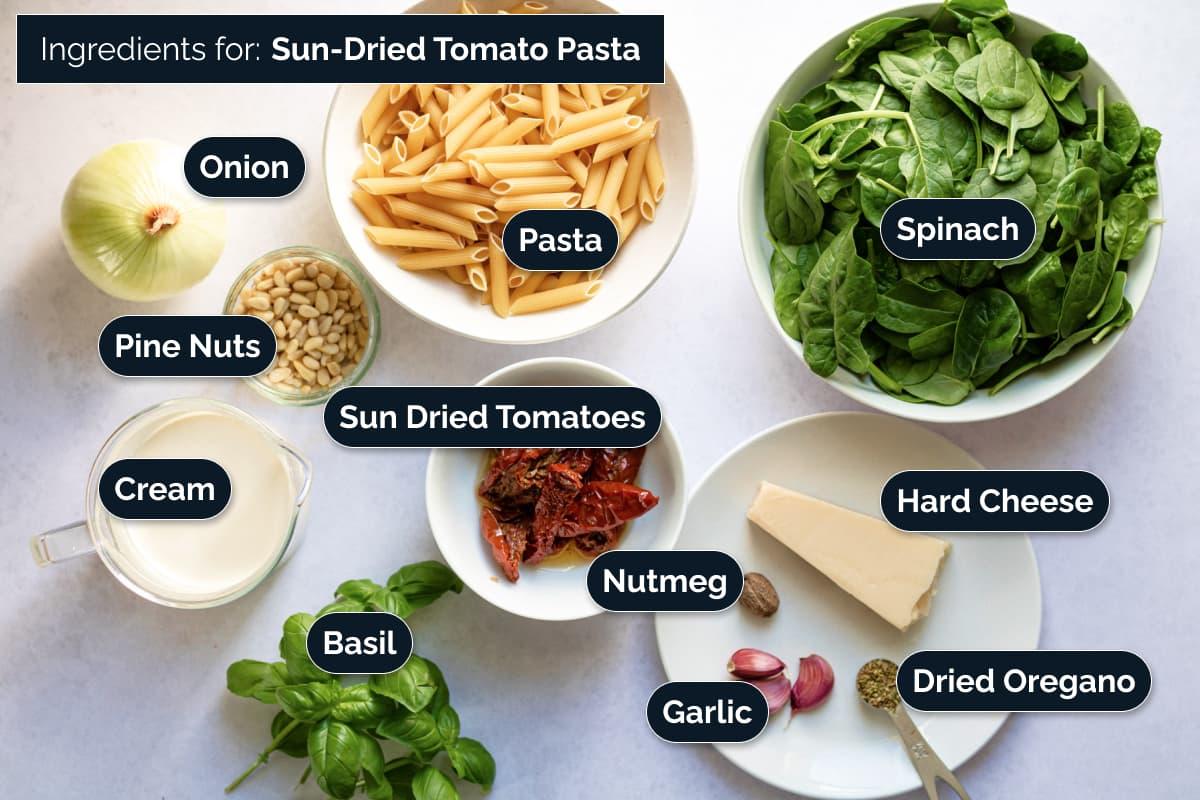 Ingredients for making this pasta dish