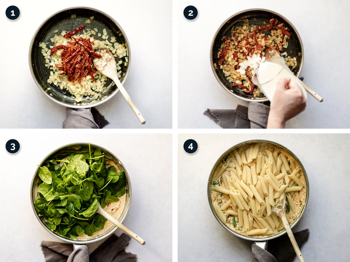 Step by step process for making this pasta dish