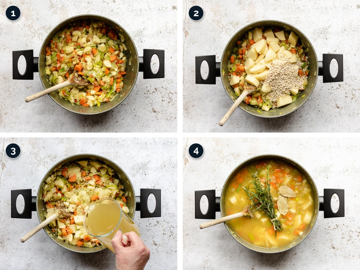 Step by step process for making this recipe