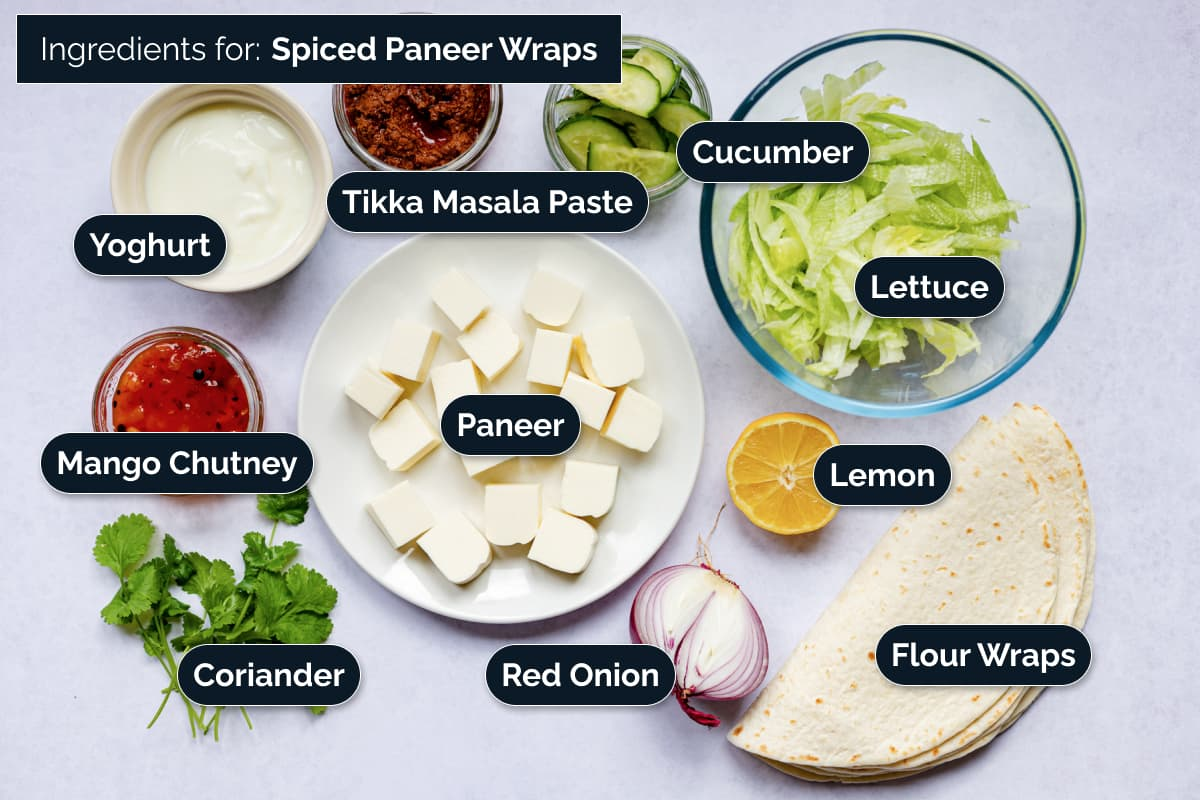 Ingredients for making these wraps