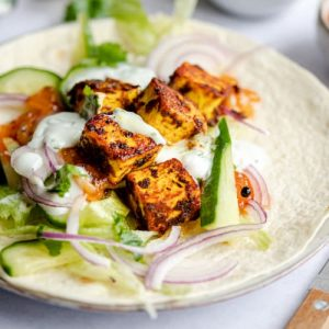 Spiced Paneer Wraps
