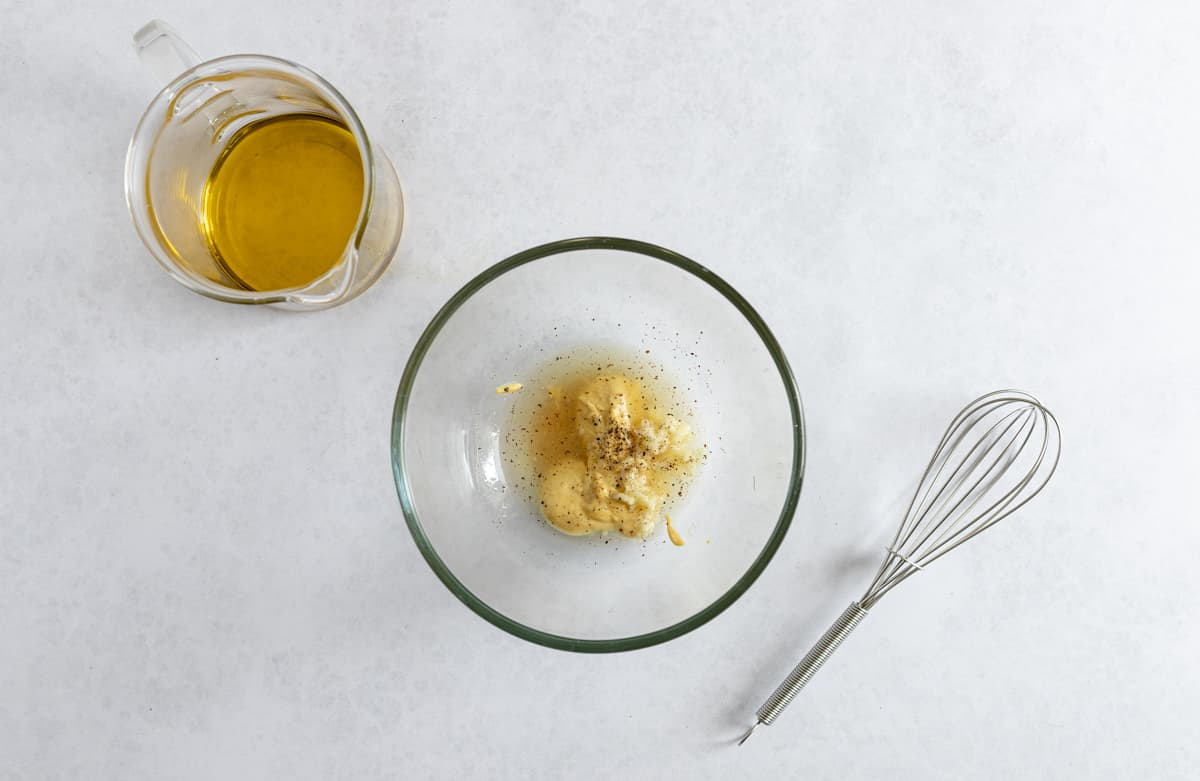 mustard dressing in a bowl