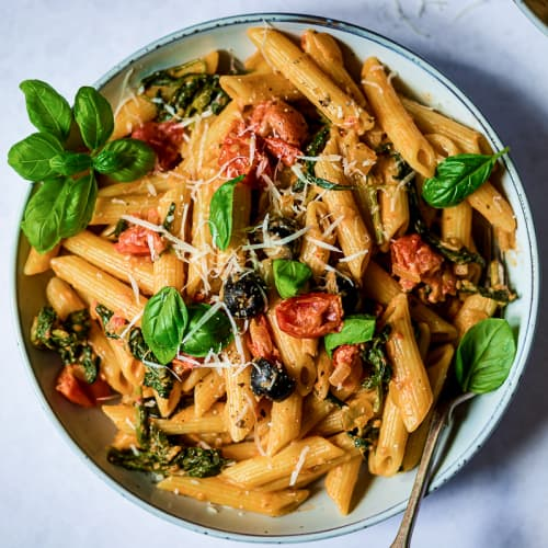 Creamy Pasta with Tomatoes